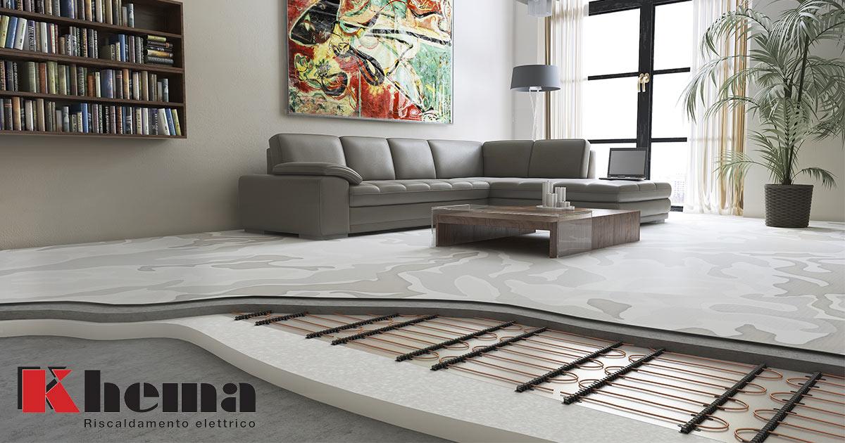 riscaldamento a pavimento soggiorno