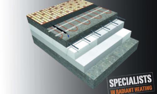 Costruzione del pavimento - Sistema di riscaldamento diretto nuova costruzione
