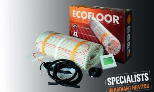 Comfort Mat - Cavi scaldanti pre-assemblati su tappeti di rete, disponibili SET completi di termostati e sonde